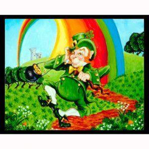 "Leprechaun Flag 29 x 43"" Silk Reflections 2000 New"